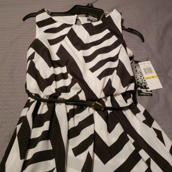 Sequin Hearts Dresses & Skirts - Black and White dress